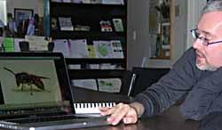 Photo of Ian MacKay giving talk