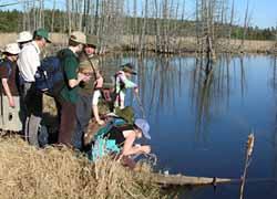 Macoun Club group at pond shore