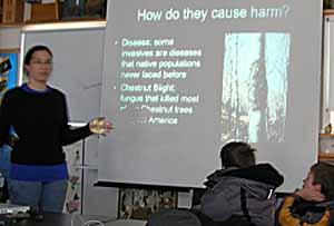Photo of Gina Schroeder giving talk
