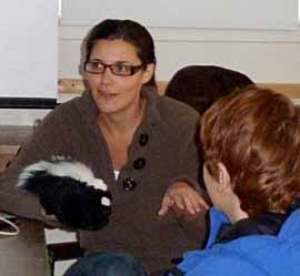 Photo of Kate with skunk
