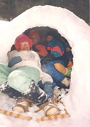 Photo of 10 Macouners in an igloo