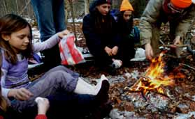 Photo of Macoun members around their lunch fire