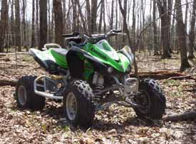 Photo of illegal ATV in our Study Area