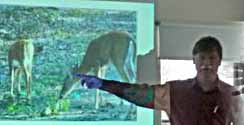 Photo of Gordon Roberston showing image of White-tailed Deer