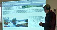 """Photo of Rob explaining his &quot:Pakenham"""" webpagee"""