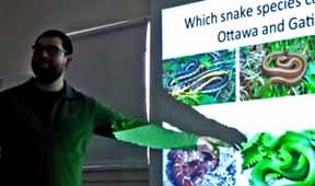 Photo of Bill Halliday giving talk