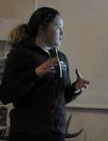 Photo of Rachel giving presentation
