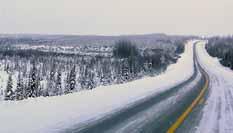 Winter scene on the James Bay Road
