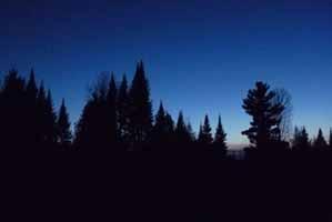 Photo of deep blue sky at twilight